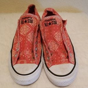Converse All Star Low Red Bandana Size 8 /39